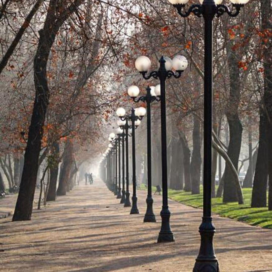 Parque Florestal no outono em Santiago do Chile