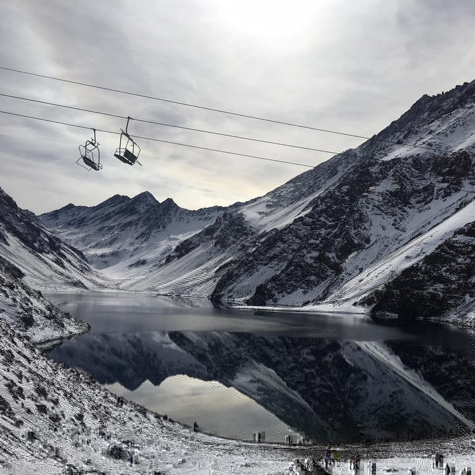 Laguna del Inca no Inverno em Portillo