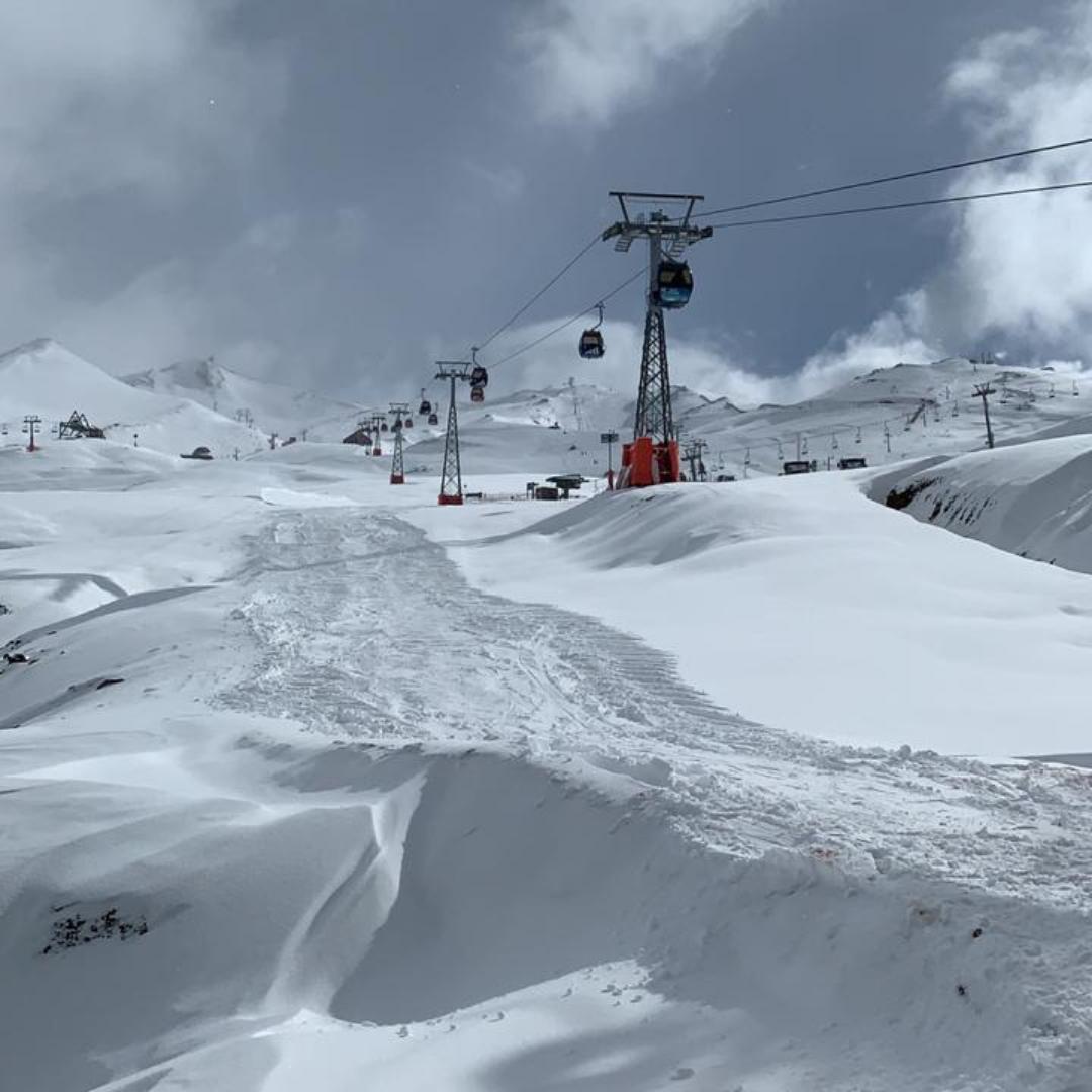 Gôndola passeio de inverno Valle Nevado em Santiago do Chile