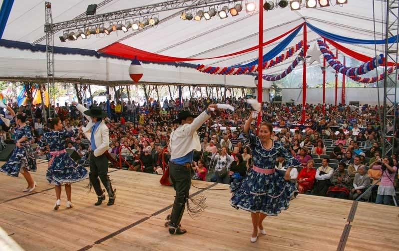 Santiago do Chile em setembro, festas pátrias