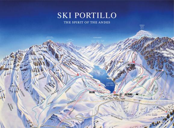 Pistas de Ski em Portillo, Santiago do Chile