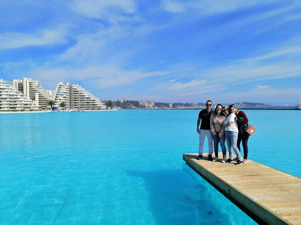 Maior piscina do mundo em algarrobo Chile