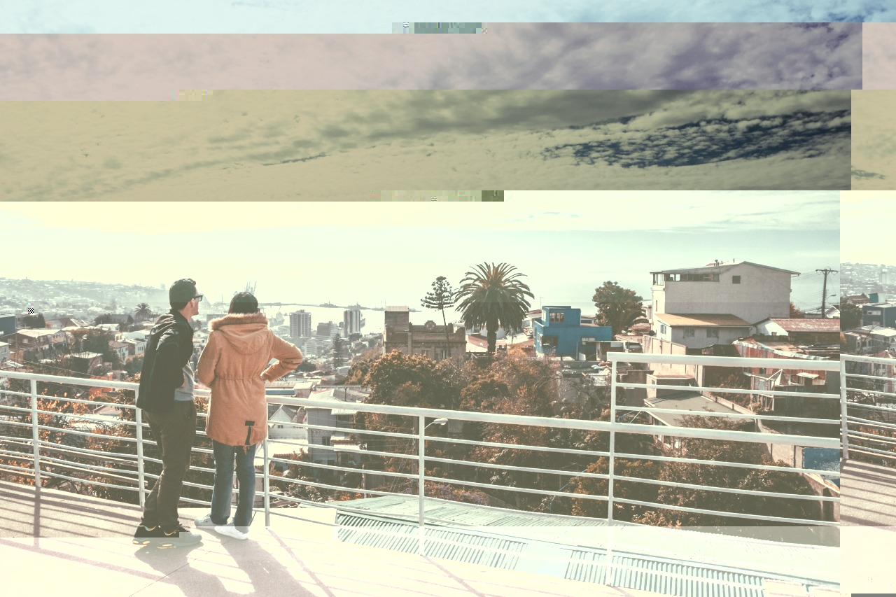 Mirador na cidade de Valparaiso no Chile