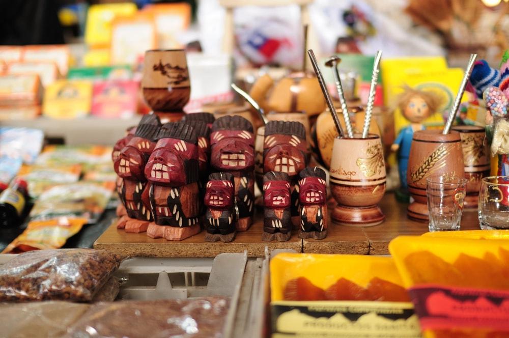 Compras de lembrancinhas no Chile