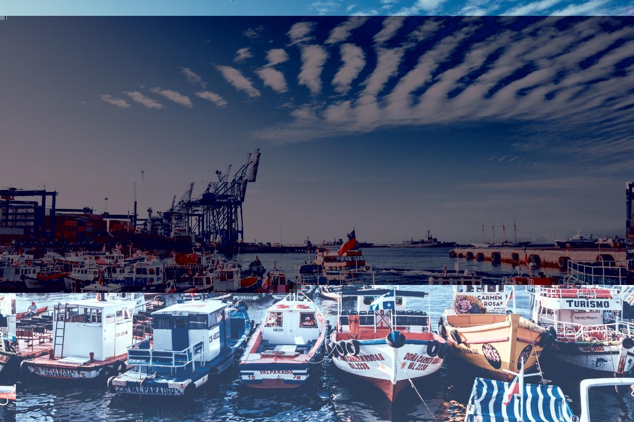 Porto de Valparaíso principal porto do Chile