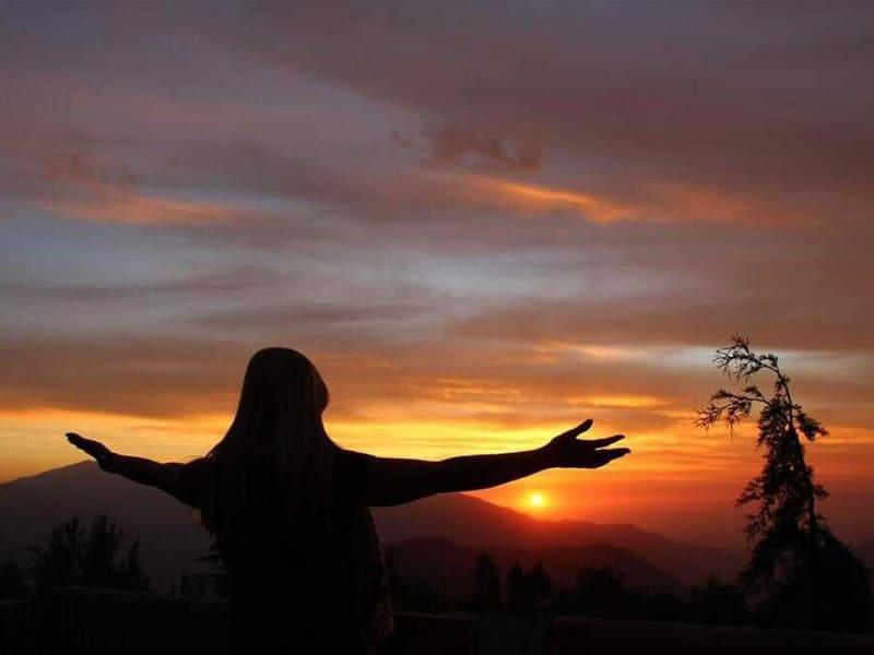 Pôr do sol no Valle Nevado